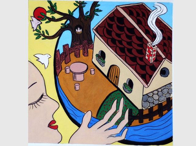 艺术设计专升本装饰画创作作品——家园