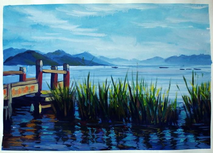 云南写生色彩风景系列